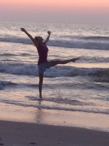 full wattage liz fletcher brown dancing on beach
